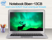 Highest level 13.3 inch laptop computer I7 8G 256G gaming laptop for Macbook AIr