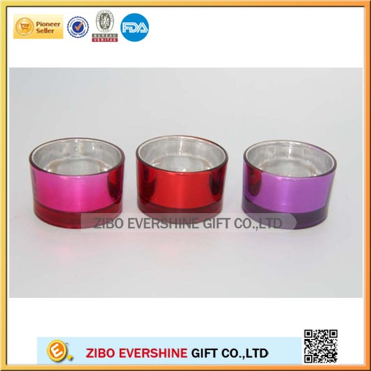 tube colored small glass candle holders wholesale