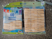 60pk decorative wooden pegs for clothes