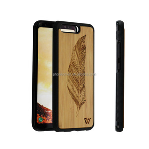 Hot Selling in Alibaba Wooden+TPU Smart Phone Case Mobile Phone Shell Back Cover Wood PC Case