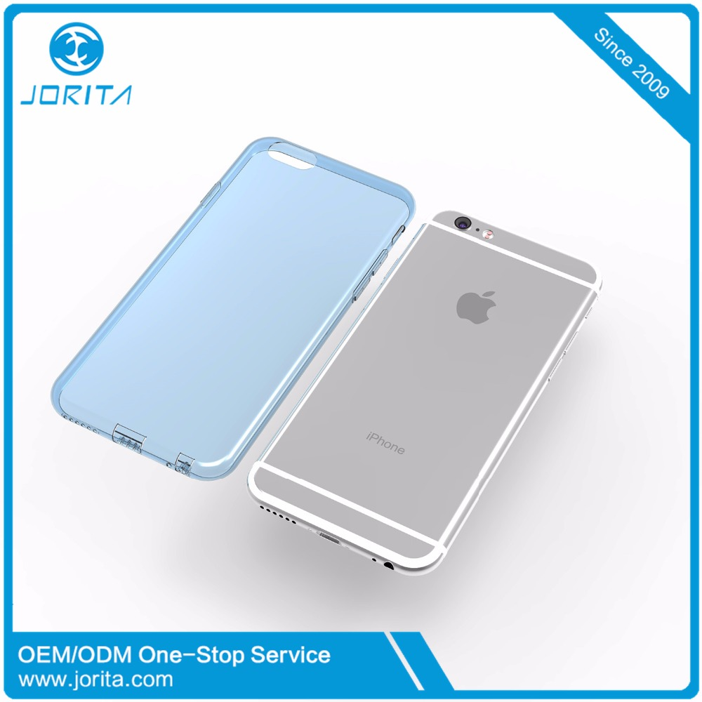 2016 newest cell phone accessories high quality clear back soft TPU phone case for iphone 6