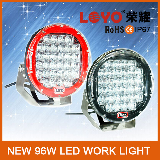 High Quality 9inch LED Work Light 96w LED Spotlight LED LED Car Headlight 96w LED Driving Light 12V for Truck Car Accessories