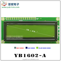 16x2 character lcd display module in yellow-green 5V black on yellow 1602 lcd