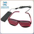 Hot Sale! Different Colors Carrera Style EL Wire Glow Sunglasses , led light sunglasses