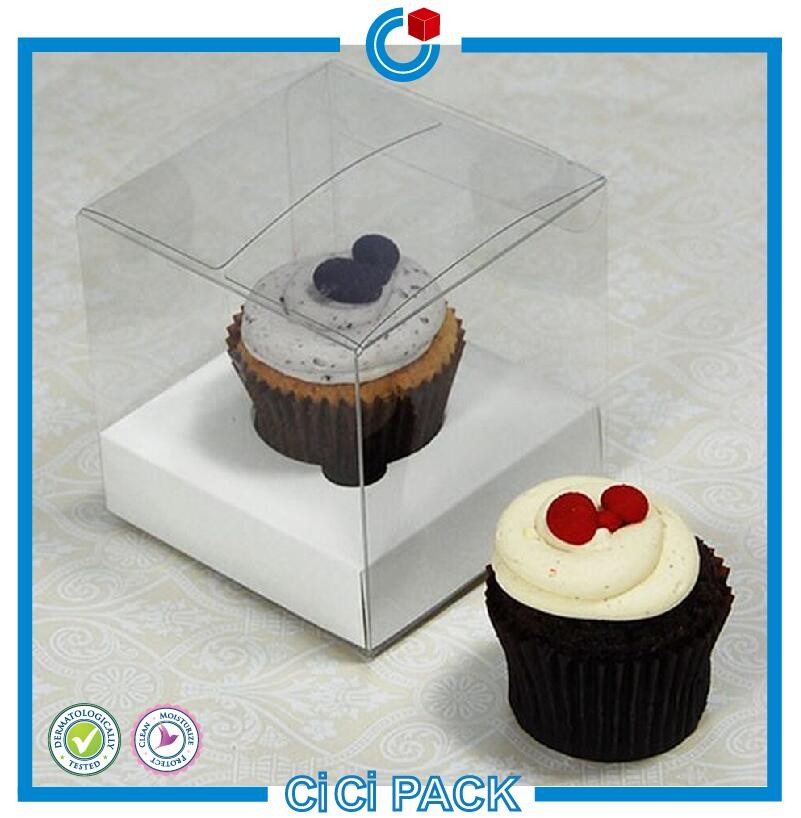New design delicate clear plastic cake box packaging container