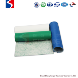 ECO-friendly pvc waterproofing membrane for plastic fish ponds and swimming pool with without Fabric in Grey