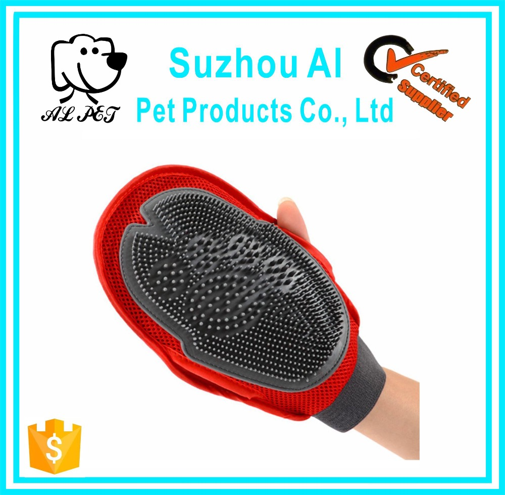 Hair Remover Custom Logo Soft Pet Grooming Gloves