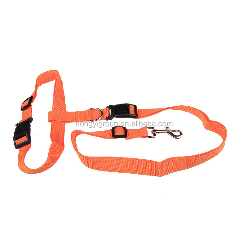 New waist pet dog leash running jogging puppy dog lead collar