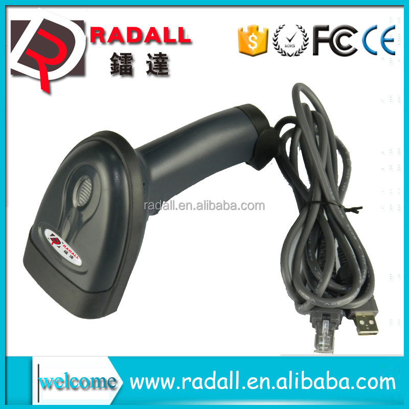 fast scan gun with USB,PS/2,RS232 32 bit wired laser barcode scanner price