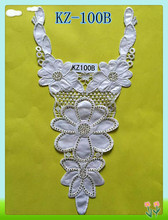 Guangzhou cheerfeel neck design embroidery neck lace