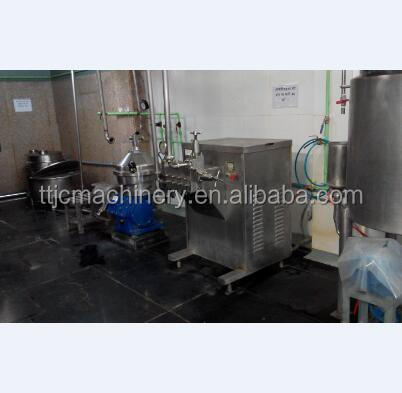Small scale combined milk/yoghurt/juice production line