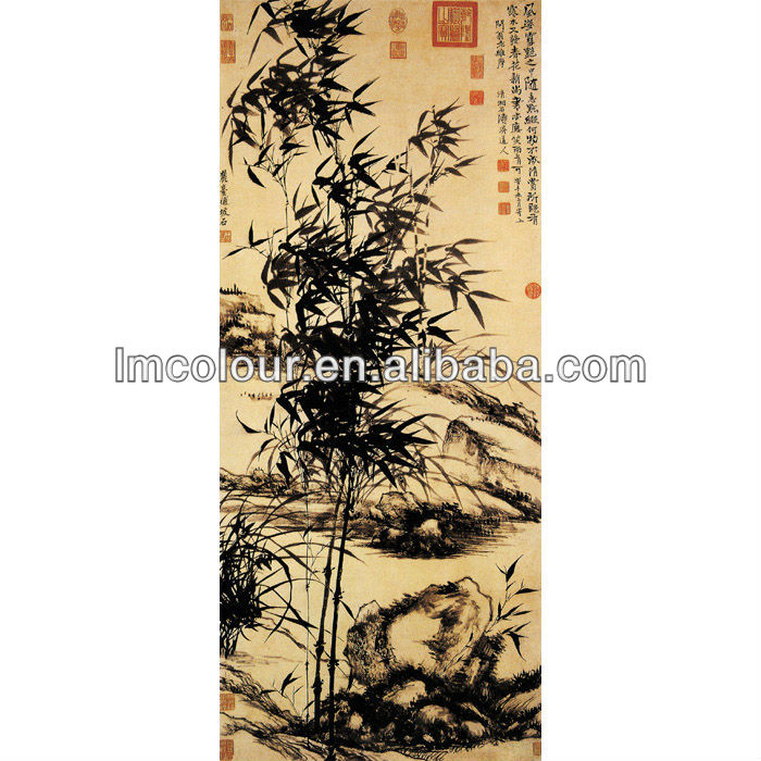 High Simulation Painting of Orchid and Bamboo(Lan Zhu Tu)