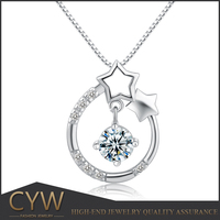 CYW 2015 hot 925 silver cz setting design pendant & charms wholesale not include chain