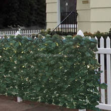 Anti UV artificial green fence for garden hedge wall decoration