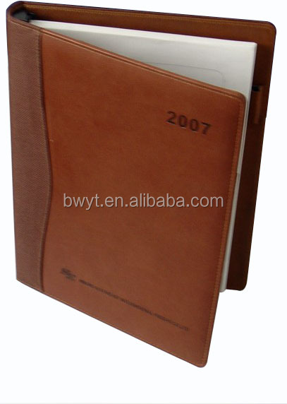 Top Grade Materials Hot Sell Notebooks/ cheap price plastic cover notebook/PU leather cover notebook