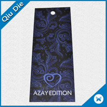 Luxury Printed Paper Black China Hang Tag For Clothing/Luggage
