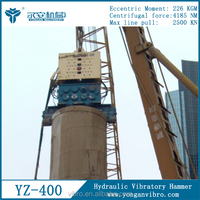 YZ400 Construction Machines Electric Vibratory Sheet piling Drivers