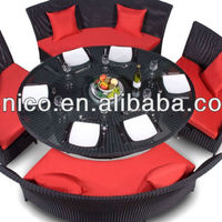 Nice Design Rattan Round Outdoor Lounge