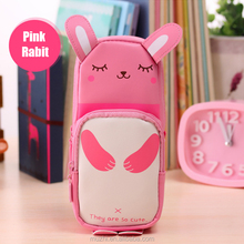 Kawaii Rabbit Animal Shape Standing Pencil Case for Kids