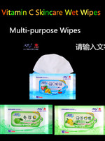 Vitamin C Moisturizing Wet Wipes for Personal Skincare and Daily Cleaning