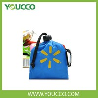 Supermarket shopping bag polyester foldable shopper with clip