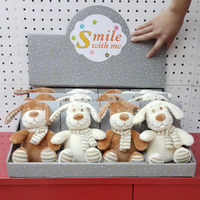 Chubby Animated Beige dogs soft baby toys