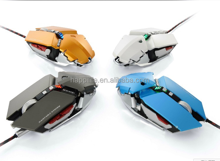9d ergonomic design custom logo PC mouse optical high 4000 DPI USB multicolor LED programming OEM gaming mouse