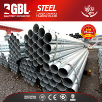 low price 2 inch round weld galvanized steel pipe of greenhouse structure