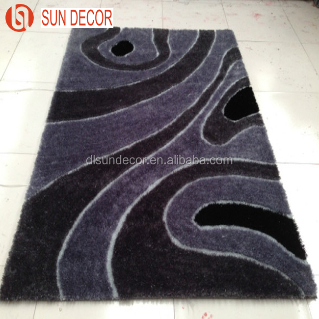 New Arrival 100% Polyester Shaggy Silk Polyester Carpet