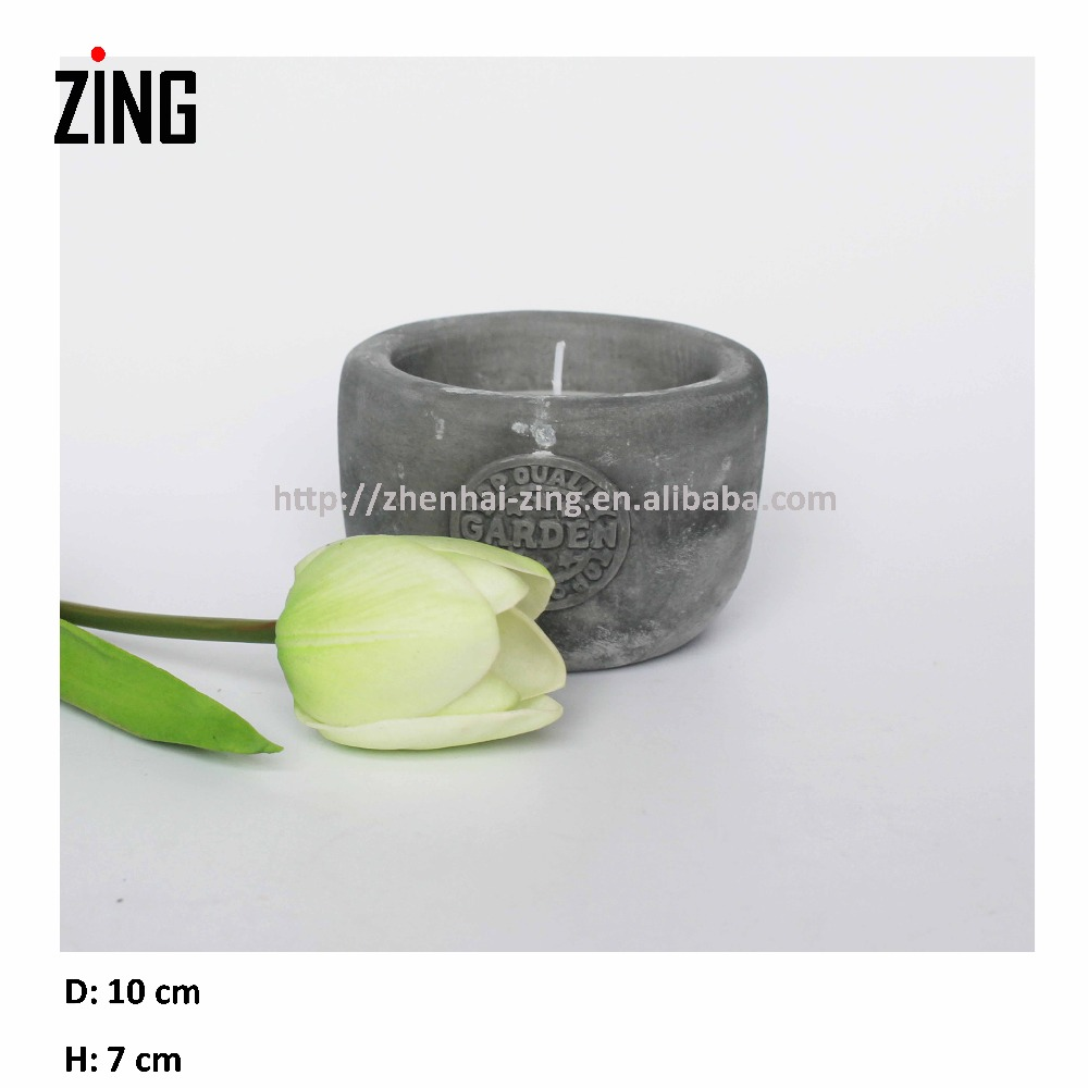scented soy candle Paraffin Wax Candle in cement tin(1605MR-023)