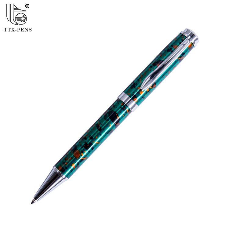 wholesales high quality elegant heavy advertising custom logo black metal ballpoint pen