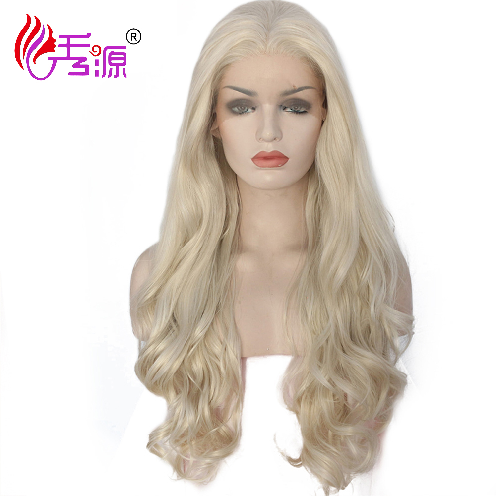 Multicolor Ombre Synthetic Swiss Lace Front Wig Fiber High Temperature synthetic wig