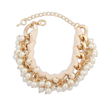 Mexico trending hot products long gold chains fashion different styles hand made pearl beaded friendship bracelets PB1843