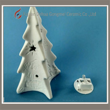solar mini christmas tree light decoration led ceramic
