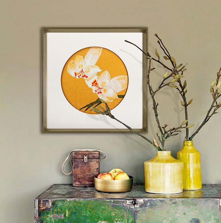 Flowers wall hanging drawing beautiful scenery painting scenery picture frame