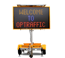 Australian Standard Portable Traffic Data Signs message boards Mobile Amber VMS Trailer