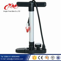Iron and high pressure easy hand operated suction bikie foot pump / air pump for car and bike
