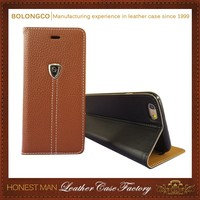 beautiful Sewing Phone case pu leather flip TPU soft cover magnetic case With Credit Card slots