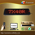 P7.62-7x40(5.3x31cm lighting area) wireless advertising led display programming running small led displays