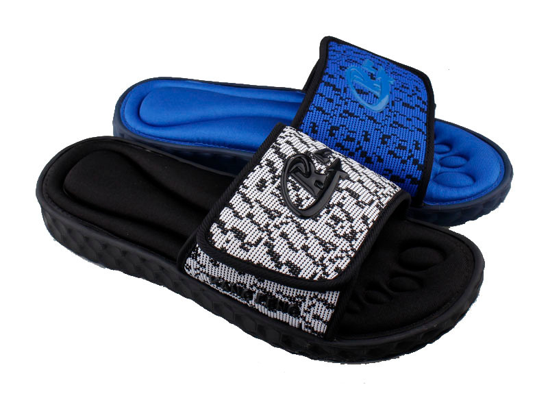 Men sandals custom slides and casual slippers with cotton fabric sandal made in china