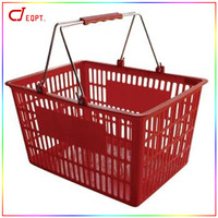 Hottest Selling plastic basket with Metal Handle with nice price