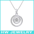 Sterling silver circle pendant HWPE14307