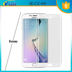 New Products!Ultra-thin Full Screen Cover 9H Hardness 3D Curved Tempered Glass For Samsung Galaxy S6 Edge