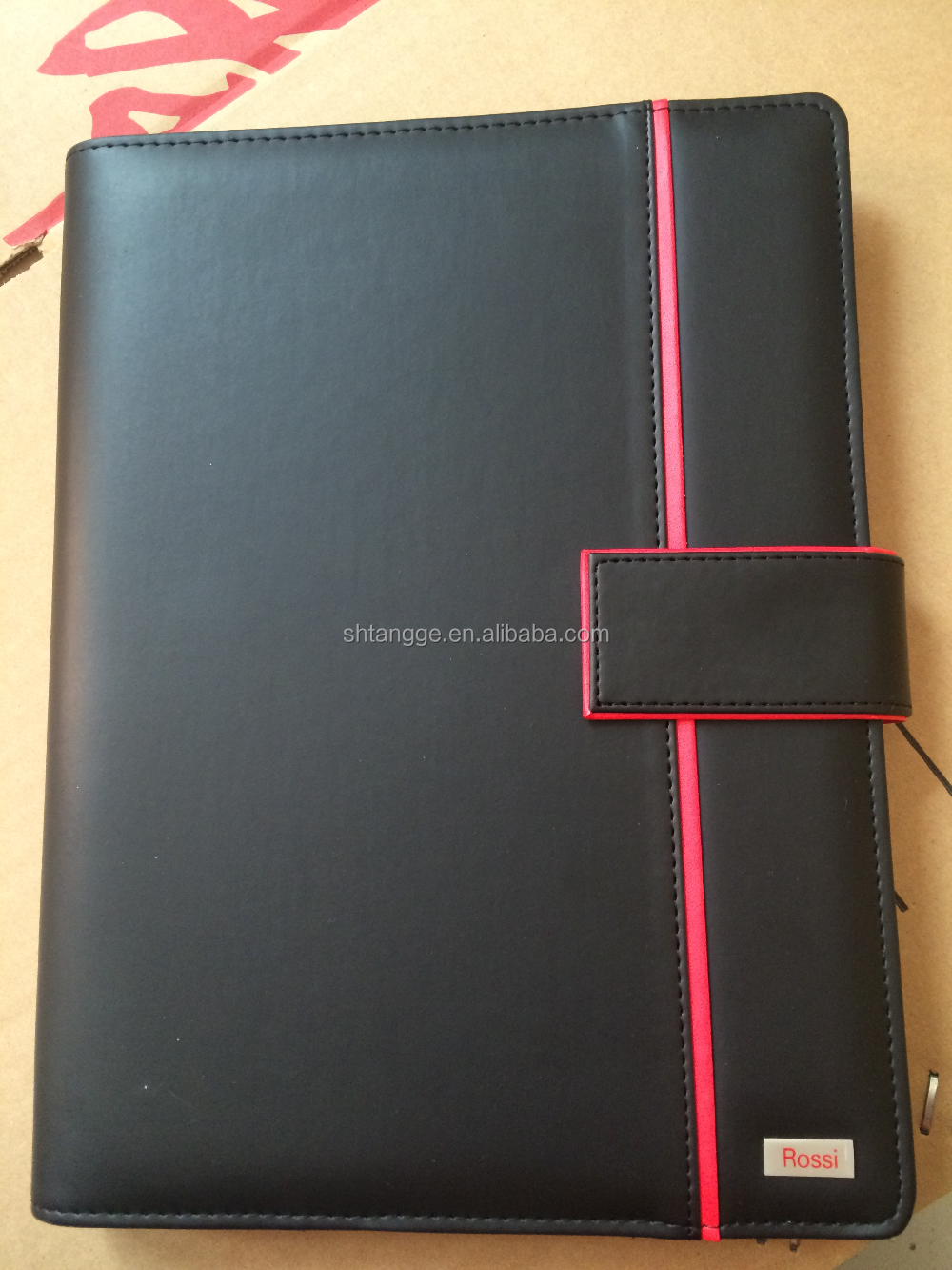 Wholesale Customized Soft Pu Notebook With Metal Clip