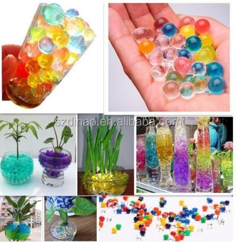 DIHAO Multi colors crystal mud soil water beads for wedding tower vase filler