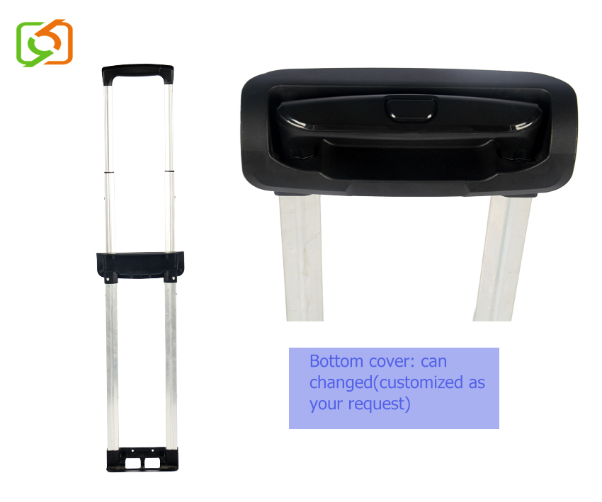 Luggage spare parts telescopic trolley handle parts for luggage trolley bags