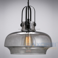Industrial Edison Vintage Style 1-Light Pendant Glass Hanging Light