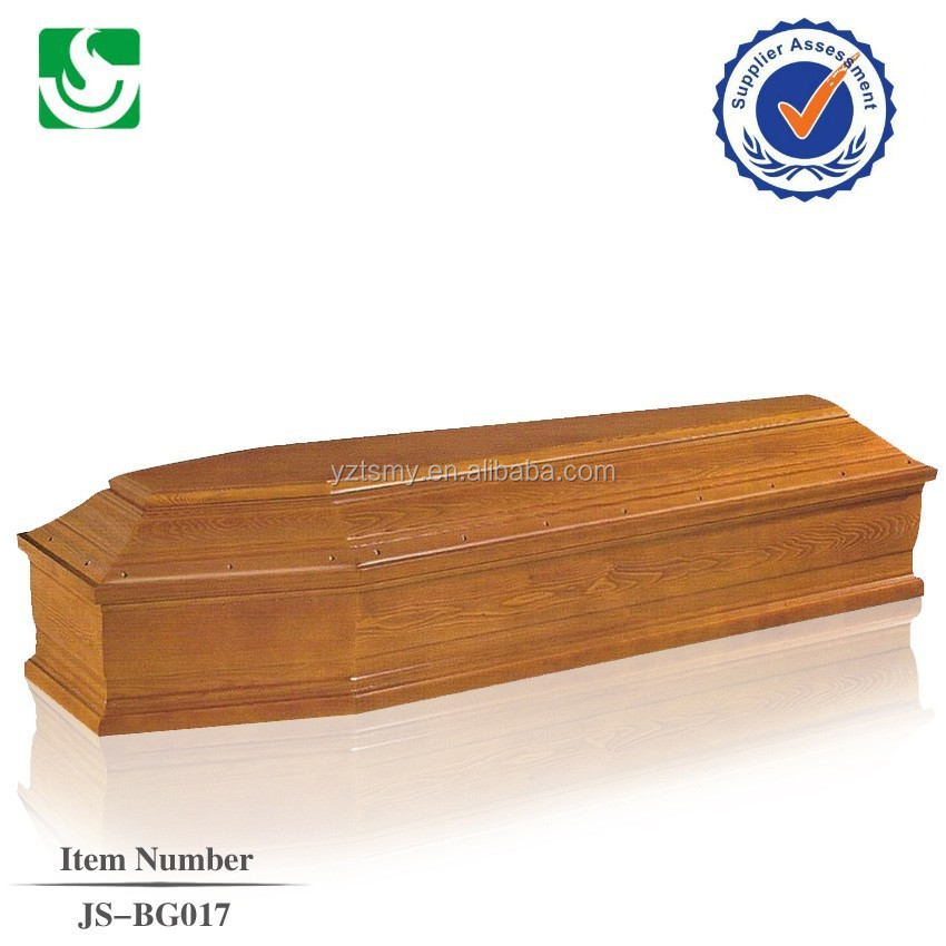 antique classical wooden coffin