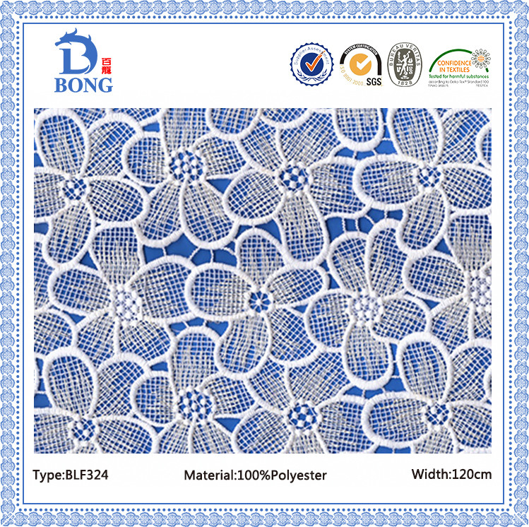 African chemical net pattern dress lace fabrics manufacture