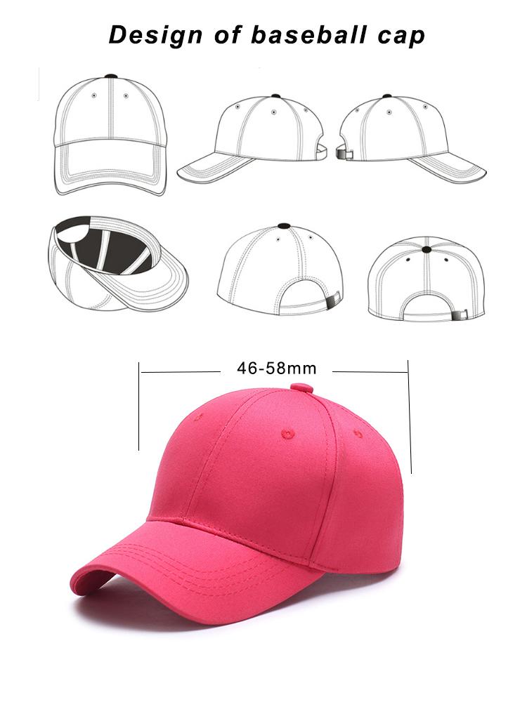 Customizable letters embroidered custom baseball hat 6 panel sports baseball cap